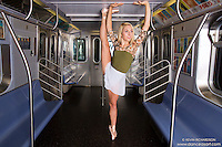 Mykaila Symes Dance As Art New York City Photography Project- New York Subway Ballerina Series.