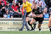 Hull FC centre Jack Logan (24) scores his second try to make it 18-6 during the Betfred Super League match between Hull FC and Hull Kingston Rovers at Kingston Communications Stadium, Hull, United Kingdom on 19 April 2019.