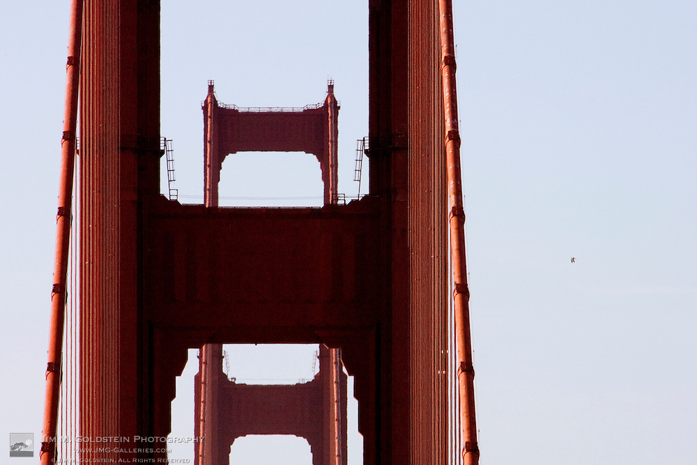 View of the Golden Gate Bridge Spans from San Francisco