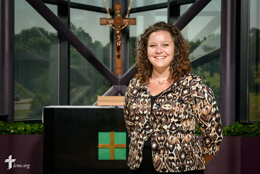 Portrait of Jamielynn Tinkey, GEO missionary to the Dominican Republic, at the International Center of The Lutheran Church–Missouri Synod on Monday, June 13, 2016, in Kirkwood, Mo. LCMS Communications/Erik M. Lunsford