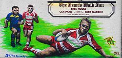 Artwork outside the ground - Mandatory by-line: Alex Davidson/JMP - 02/12/2017 - RUGBY - Kingsholm - Gloucester, England - Gloucester Rugby v London Irish - Aviva Premiership