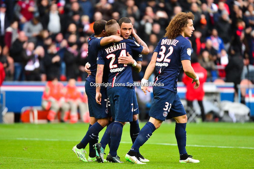 Joie PSG - Marco VERRATTI - 18.01.2015 - Paris Saint Germain / Evian Thonon - 21eme journee de Ligue 1<br />Photo : Dave Winter / Icon Sport