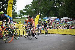 Karol-Ann Canuel (CAN) of Boels-Dolmans Cycling Team rides up on Lemon Hill in the second lap of the Philadelphia International Cycling Classic, a 117.8 km road race in Philadelphia on June 5, 2016 in Philadelphia, PA.