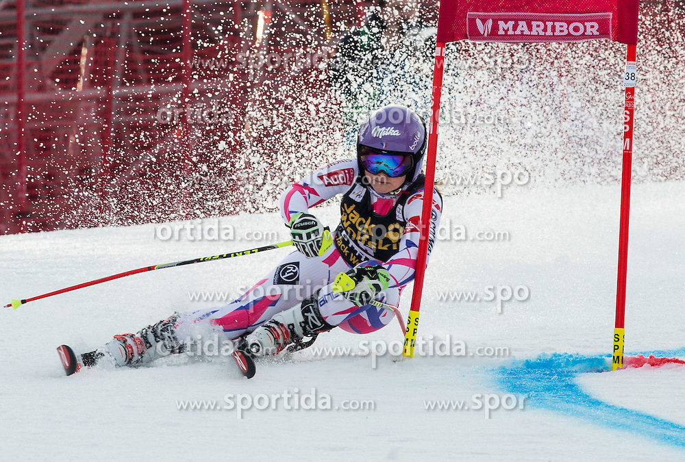 Tessa Worley (FRA) competes during 7th Ladies' Giant slalom at 52nd Golden Fox - Maribor of Audi FIS Ski World Cup 2015/16, on January 30, 2016 in Pohorje, Maribor, Slovenia. Photo by Vid Ponikvar / Sportida
