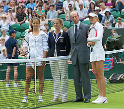 LONDON, ENGLAND - Monday, June 22, 2009: Prince Edward, Duke of Kent, on court for the coin toss to open the new Court number two as Laura Robson (GBR) takes on Daniela Hantuchova (SVK) during the 1st Round of the Ladies' Singles on day one of the Wimbledon Lawn Tennis Championships at the All England Lawn Tennis and Croquet Club. (Pic by David Rawcliffe/Propaganda)