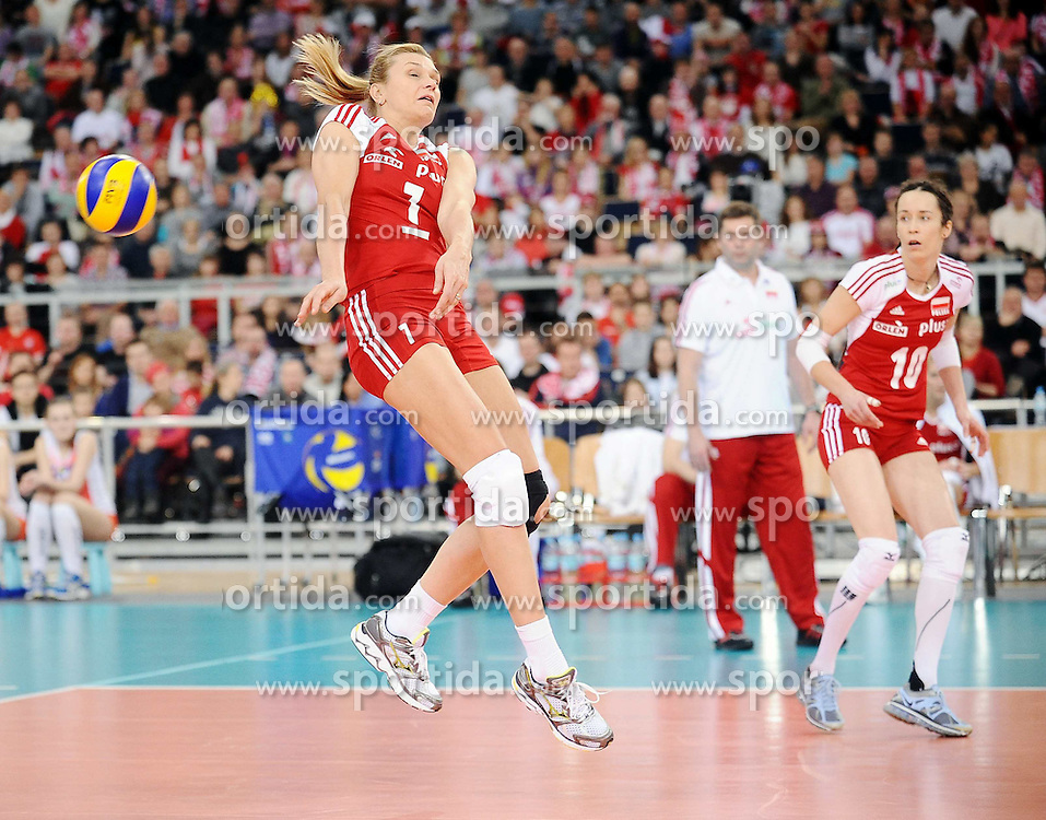 04.01.2014, Atlas Arena, Lotz, POL, FIVB, Damen WM Qualifikation, Polen vs Spanien, im Bild MALGORZATA GLINKA-MOGENTALE // MALGORZATA GLINKA-MOGENTALE during the ladies FIVB World Championship qualifying match between Poland and Spain at the Atlas Arena in Lotz, Poland on 2014/01/04. EXPA Pictures &copy; 2014, PhotoCredit: EXPA/ Newspix/ Lukasz Laskowski<br /> <br /> *****ATTENTION - for AUT, SLO, CRO, SRB, BIH, MAZ, TUR, SUI, SWE only*****