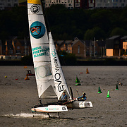 Flying Phantom Series 2018<br /> After a successful debut in 2017, the Flying Phantom Series returns to the line-up at four Extreme Sailing Series Acts in 2018; Muscat, Barcelona, Portugal, and Cardiff. The pocket-rocket foilers will also compete in Baie de Quiberon on the west coast of France for the second Act of the Flying Phantom Series.<br /> <br /> Eight world-class teams from five nations have already entered including the reigning champions from Austria, Red Bull Sailing Team, who return to defend their title. Also making a repeat appearance is Culture Foil, last year's silver medallists from France; Czech team, Masterlan; German pair, EVO Visian ICL; Portuguese duo, UON and the French team of Idreva Foiling Team.<br /> <br /> 2018 also sees two new teams step up to the plate. Flying Frogs of France, who raced in the Barcelona and Cardiff events of 2017, join the line-up for the full Series this year as well as the brand new Team France. This features a top pairing from a program that runs from the ENVSN in Quiberon and aims to develop future French inshore, multihull champions.