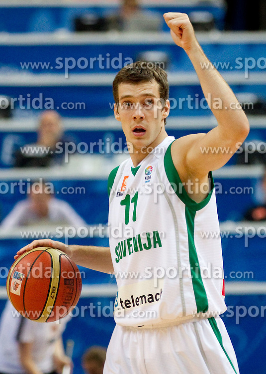 Goran Dragic of Slovenia during basketball game between National basketball teams of Slovenia and Finland at FIBA Europe Eurobasket Lithuania 2011, on September 12, 2011, in Siemens Arena,  Vilnius, Lithuania.  Slovenia defeated Finland 67-60. (Photo by Vid Ponikvar / Sportida)