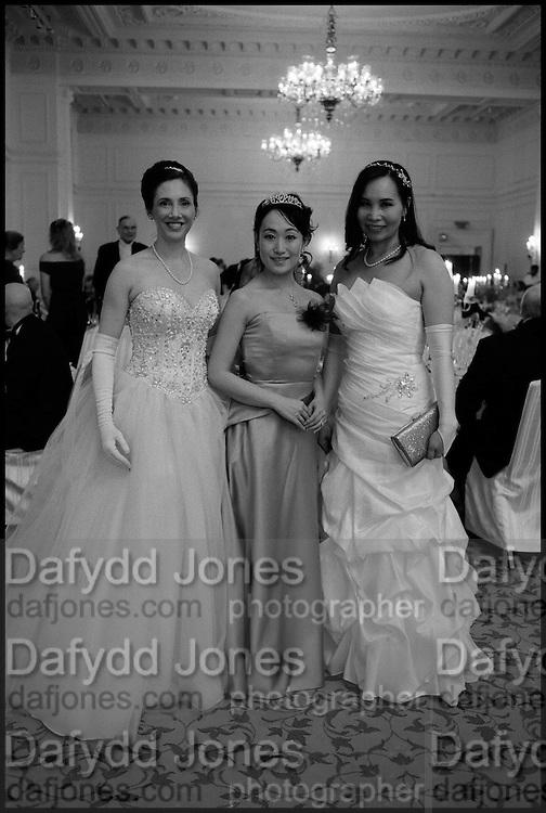LT. CDR.; ELIZABETH SQUIRE; SATOKA MATSUDA;  HELEN YOUNG, , The St. Petersburg Ball. In aid of the Children's Burns Trust. The Landmark Hotel. Marylebone Rd. London. 14 February 2015.