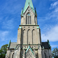 Kristiansand Cathedral in Kristiansand, Norway<br /> The Kristiansand Domkirke is the city&rsquo;s fourth cathedral since 1682 when it became a diocese and the seat of Bishop of Agder. After its predecessor burned down in 1880, this neo-gothic church was built five years later using stone. As a result, it survived a city-wide fire in 1892 and an artillery attack by the Germans in 1940. The original design of Kristiansand Domkirke by Henrik Thrap-Meyer accommodated over 2,000 people.