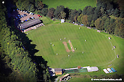 aerial photograph of Southowram Cricket Club, Southowram near Halifax, West Yorkshire.