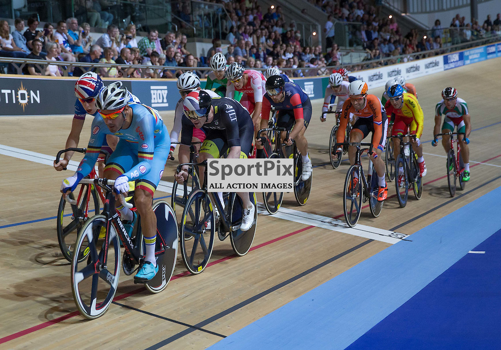 Action from the Men's Omnium at the Revoultion Series 2015/6 Round 1 Derby, Day 2, on 15 August 2015 ( (Photo by Mike Poole - Photopoole)