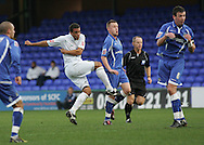 Stockport - Saturday October 31st 2009: Darel Russell of Norwich City gets his shot away against Stockport County during the Coca Cola League One match at Edgeley Park, Stockport. (Pic by Michael SedgwickFocus Images)