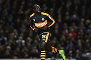 Newcastle United midfielder Mohamed Diame (15) during the EFL Sky Bet Championship match between Brighton and Hove Albion and Newcastle United at the American Express Community Stadium, Brighton and Hove, England on 28 February 2017. Photo by Bennett Dean.