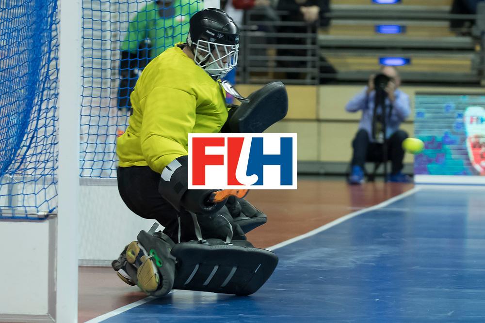 Hockey, Seizoen 2017-2018, 09-02-2018, Berlijn,  Max-Schmelling Halle, WK Zaalhockey 2018 MEN, Iran - Czech Republic 2-2 Iran Wins after shoutouts, Pavel Hraba (GK)  missed a penalty