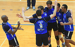 Team Salonit (left Tevares Luz Andre) at finals of Slovenian volleyball cup between OK ACH Volley and OK Salonit Anhovo Kanal, on December 27, 2008, in Nova Gorica, Slovenia. ACH Volley won 3:2.(Photo by Vid Ponikvar / SportIda).
