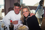 Phil Mickelson with wife Amy<br /> Phoenix Open USA<br /> 1995<br /> <br /> Pictures Credit: Mark Newcombe/visionsingolf.com