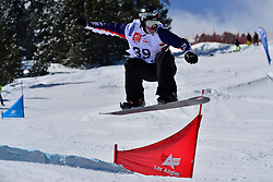 Snowboarder Cross Action, GABEL Keith, USA at the 2016 IPC Snowboard Europa Cup Finals and World Cup