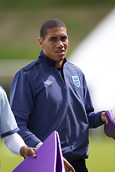 FREDERICIA, DENMARK - Tuesday, June 14, 2011: England's Chris Smalling (Manchester United FC) during training at the Fredericia Stadium ahead of the UEFA Under-21 Championship Denmark 2011 Group B match against Ukraine. (Photo by Vegard Grott/Propaganda)