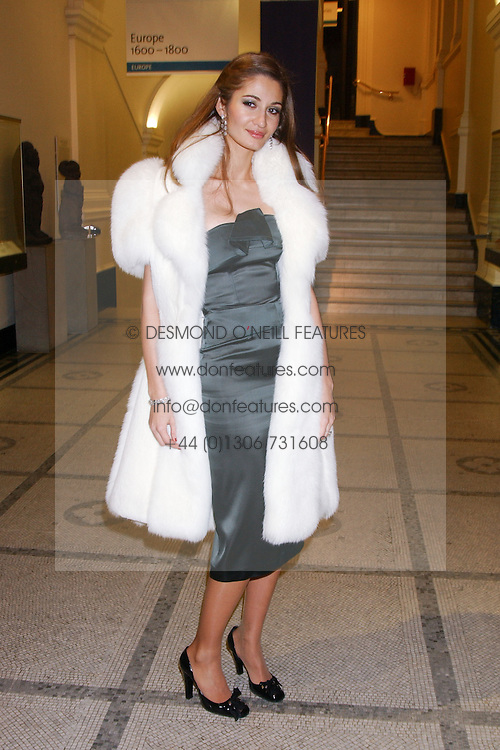 GYUNEL BOATENG wife of designer Oswald Boateng at a fashion show and after party to celebrate the 20th Anniversay of fashion designer Ozwald Boateng held at the Victoria &amp; Albert Museum, London on 25th November 2005.<br />