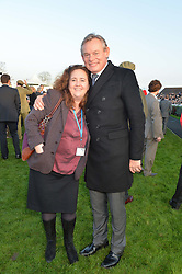 MARTIN CLUNES and sister in law LAURA BRAITHWAITE at the 2014 Hennessy Gold Cup at Newbury Racecourse, Newbury, Berkshire on 29th November 2014.  The Gold Cup was won by Many Clouds ridden by Leighton Aspell.
