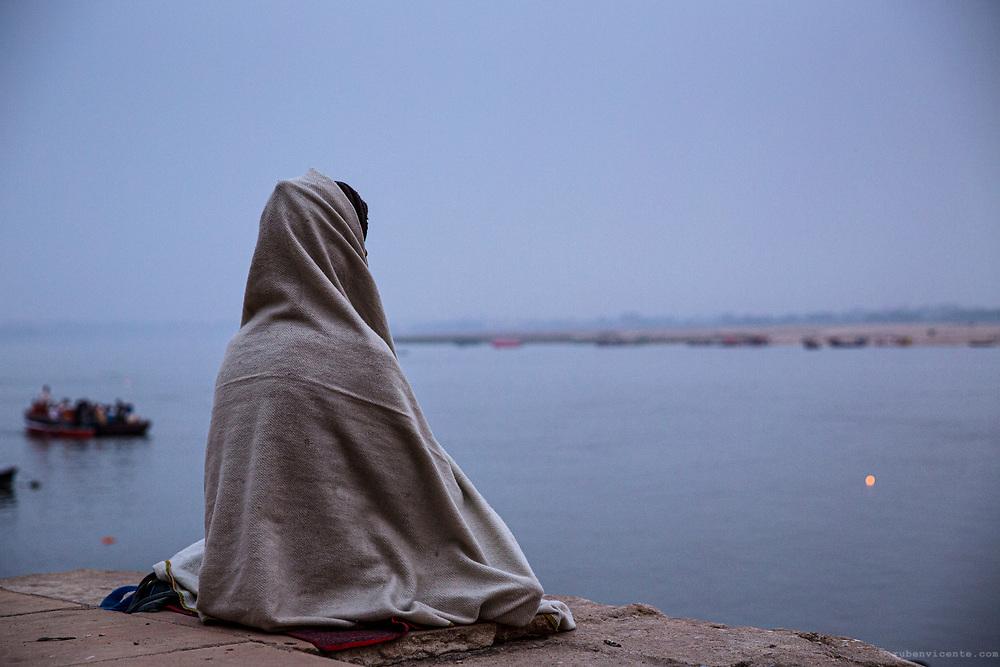 Meditating in Varanasi. India