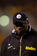 Head coach Mike Tomlin of the Pittsburgh Steelers during a loss to Indianapolis 24-20 on Sunday, Nov. 9, 2008 in Pittsburgh.