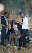 BARTHELEMYN TOGUO; GEORGES ADEAGBO; KAY HASSAN, Okwui Enwezor and Vinyl Facorty hosted party at Ca'Sagredo, Campo Santa Sofia Venice Biennale, Venice. 5 May 2015