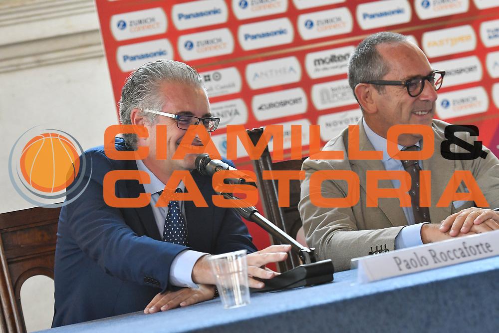 roccaforte<br /> presentazioe supercoppa 2018<br /> Legabasket Serie A 2018/19<br /> Brescia, 24/09/2018<br /> Ciamillo-Castoria