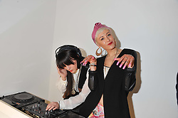 Left to right, DJ's LUCKY V and SYRON at a party to celebrate the launch of the Casio Tokyo watch in association with Flashtrash.com held at itsu, 10a Blandford Road, London W1 on 28th January 2013.