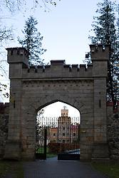 The gates leading into New Sigulda Castle, Sigulda, Latvia