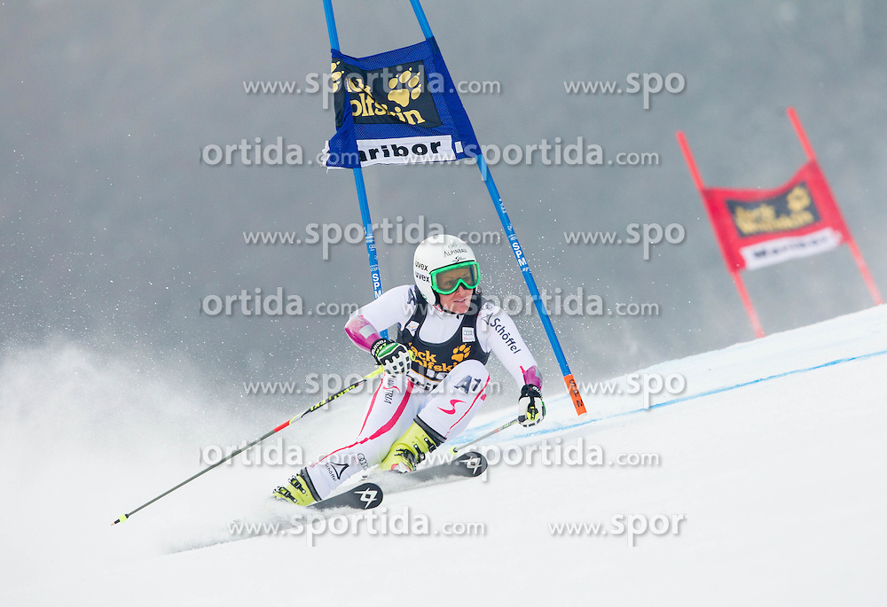 "KOEHLE Stefanie of Austria competes during 1st Run of FIS Alpine Ski World Cup 7th Ladies' Giant Slalom race named ""49th Golden Fox 2013"", on January 26, 2013 in Mariborsko Pohorje, Maribor, Slovenia. (Photo By Vid Ponikvar / Sportida.com)"
