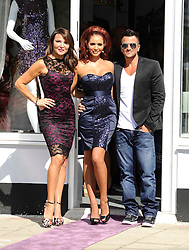 """Lizzy Cundy and Former TOWIE star Amy Childs and Peter Andre attend The Launch Of Her New Boutique Opening Of """"Amy Childs Boutique.""""Brentwood,Essex.London, Wednesday September 5, 2012"""