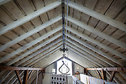 EVANSVILLE, WI — FEBRUARY 16, 2015: Vaulted barn ceilings inside the Cooksville Farm property, Monday, February 16, 2015.