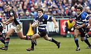 2004/05 Zurich, Rugby,Premiership; Bath Rugby vs NEC Harlequins, Bath, ENGLAND; Bath's Ryan Davis looks for a gap ..Photo  Peter Spurrier. .email images@intersport-images...