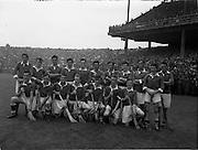 10/08/1958<br /> 08/10/1958<br /> 10 August 1958<br /> All-Ireland Minor Semi-Final: Limerick v Antrim at Croke Park, Dublin. Limerick team.