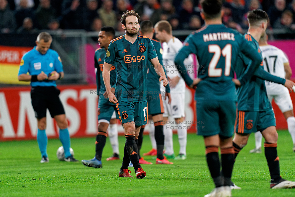 Daley Blind #17 of Ajax in action during the semi final KNVB Cup between FC Utrecht and Ajax Amsterdam at Stadion Nieuw Galgenwaard on March 04, 2020 in Amsterdam, Netherlands