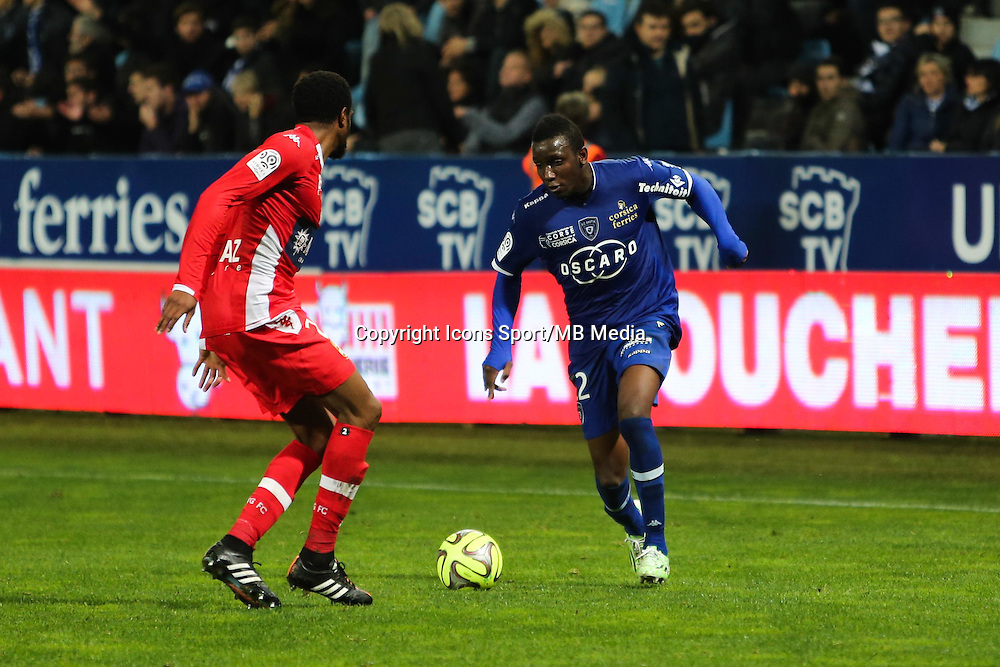 Christopher MABOULOU - 03.12.2014 - Bastia / Evian Thonon - 16eme journee de Ligue 1 <br />