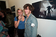 "DICKIE GRAHAM; KATIE GLASS; , Video artist Yi Zhou  first solo show ""I am your Simulacrum"".Exhibition opening at 20 Hoxton Square Projects. Hoxton Sq. London. 1 September 2010.  -DO NOT ARCHIVE-© Copyright Photograph by Dafydd Jones. 248 Clapham Rd. London SW9 0PZ. Tel 0207 820 0771. www.dafjones.com."