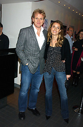 Top chef GORDON RAMSAY and his wife TANA at the Harpers and Moet Restaurant Awards 2005 held at Floridita, Wardour Street, London W1 on 31st October 2005.<br />