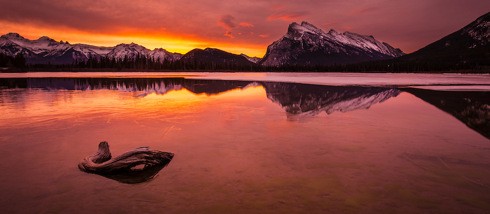 Sunrise at Vermillion Lakes, Banff NP, Canada