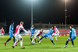 Noa Lang of Jong Ajax (M) scores during the Jupiler League match between jong Ajax and SC Cambuur Leeuwarden at De Toekomst on January 22, 2018 in Amsterdam, The Netherlands