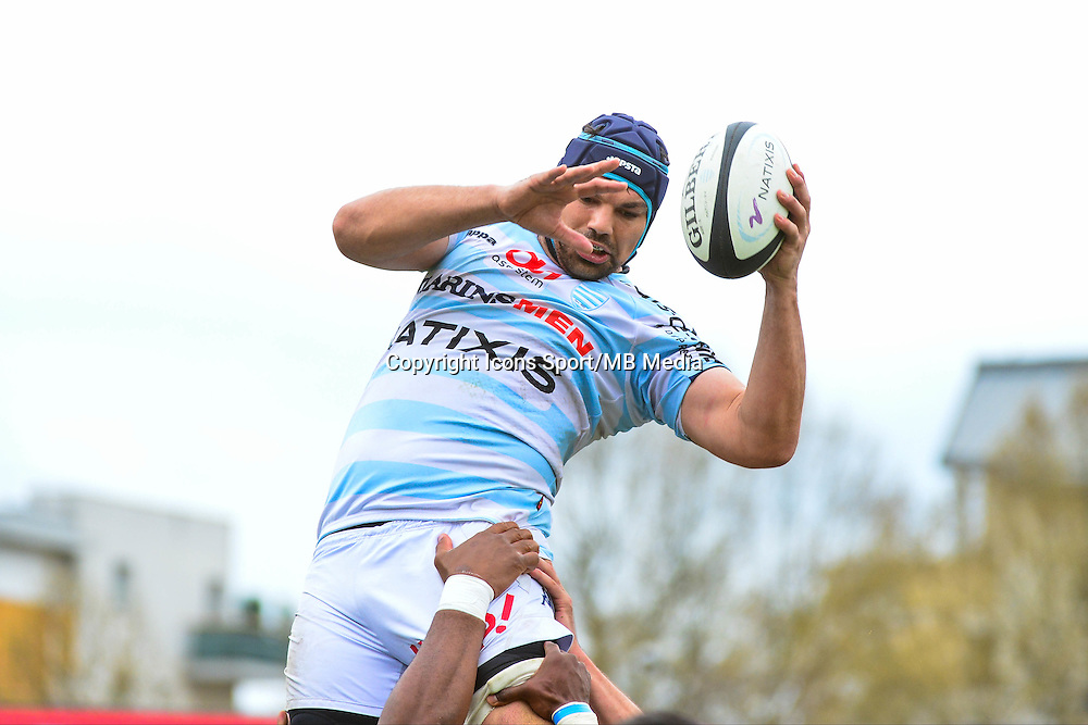 Francois VAN DER MERWE  - 11.04.2015 - Racing Metro / Montpellier  - 22eme journee de Top 14 <br />