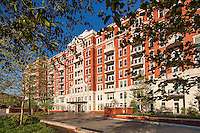 Washington DC apartment building exterior image of The Woodley by Jeffrey Sauers of Commercial Photographics, Architectural Photo Artistry in Washington DC, Virginia to Florida and PA to New England