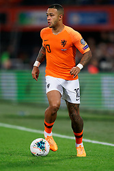 10-10-2019 NED: Netherlands - Northern Ireland, Rotterdam<br /> UEFA Qualifying round Group C match between Netherlands and Northern Ireland at De Kuip in Rotterdam / Memphis Depay #10 of the Netherlands