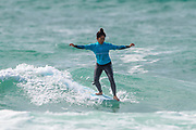 Natsumi Taoka (JPN), Runner Up in Final of Longboard Pro Surfing Championships at Boardmasters 2019 at Fistral Beach, Newquay, Cornwall, United Kingdom on 11 August 2019.
