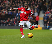 Charlton Athletic midfielder, Callum Harriott (11) crossing the ball during the Sky Bet Championship match between Fulham and Charlton Athletic at Craven Cottage, London, England on 20 February 2016. Photo by Matthew Redman.