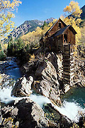 Crystal Mill, waterfall, Elk Mountains, Colorado