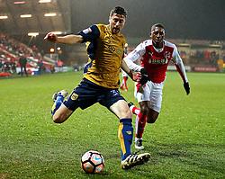 Jens Hegeler of Bristol City crosses - Mandatory by-line: Matt McNulty/JMP - 17/01/2017 - FOOTBALL - Highbury Stadium - Fleetwood,  - Fleetwood Town v Bristol City - Emirates FA Cup Third Round Replay