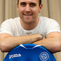 Lee Croft pictured after signing for St Johnstone FC...19.01.12<br /> Picture by Graeme Hart.<br /> Copyright Perthshire Picture Agency<br /> Tel: 01738 623350  Mobile: 07990 594431